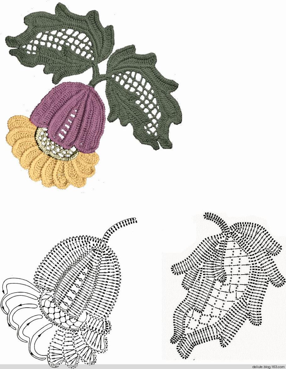 Ergahandmade irish crochet leaves diagrams irish crochet leaves diagrams for instructions click here httpergahandmadespot201506crochet stitchesml ccuart Images