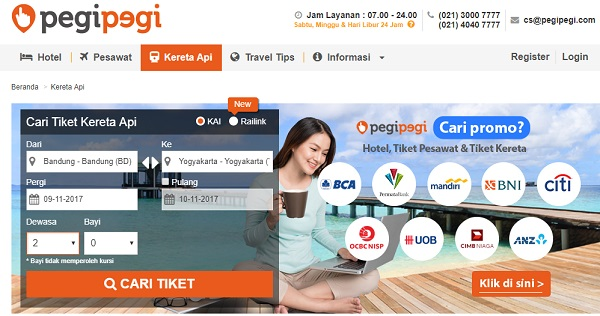 Situs Travel murah Pegipegi untuk pesan tiket dan hotel online