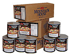 Mountain House products are long-time favorites of backpackers, campers, and the preparedness-minded. Delicious just-add-water entrees and ingredients packed for your long-term food storage. Don't miss the opportunity to stock up now on Mountain House qua.