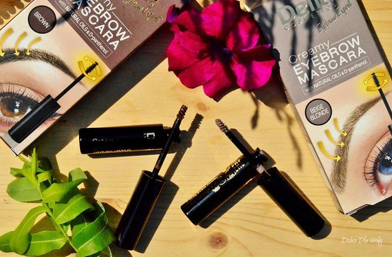 Delia Cosmetics Eyebrow Expert Kremowa maskara do brwi - Beżowy Blond i Brązowa