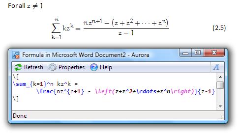 Aurora: Editor LaTex para o Microsoft Word
