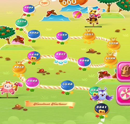 Candy Crush Saga level 5541-5555