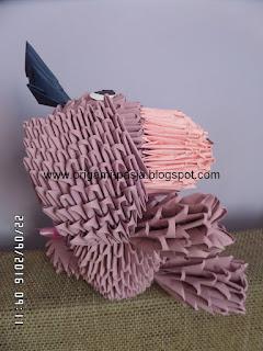 """Kłapouchy """"Przygody Kubusia Puchatka """" - origami modułowe, segmentowe, 3d."""