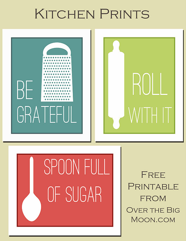 Fun Kitchen Printables  Over The Big Moon