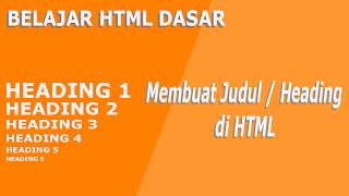 cara membuat judul di html - Cara Menciptakan Judul Atau Heading Di Html (Tag H1)