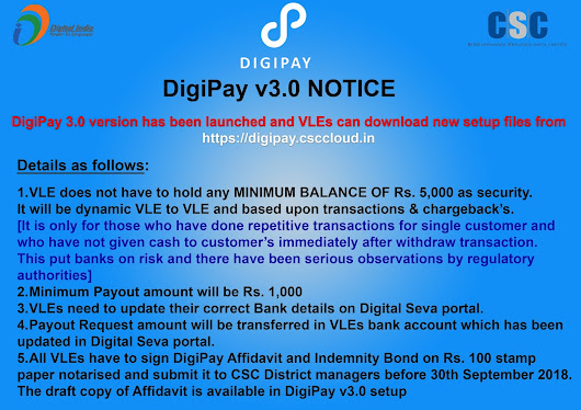 Digipay New Notification for VLE's