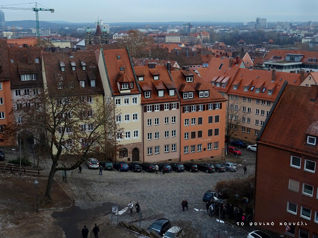 Θέα των σπιτιών από ψηλά στη Νυρεμβέργη της Γερμανίας / Top view in Nuremberg, Germany