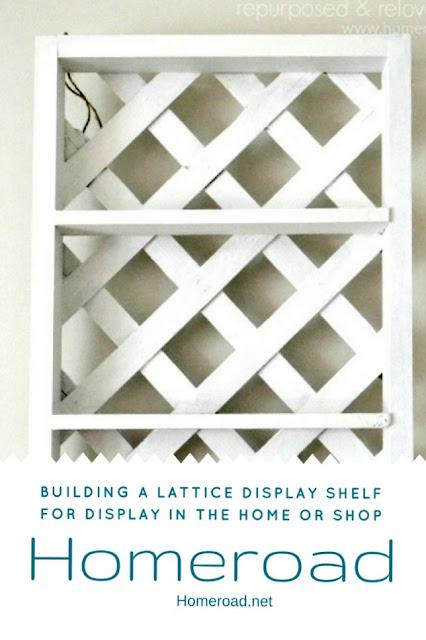 wooden lattice shelving pin
