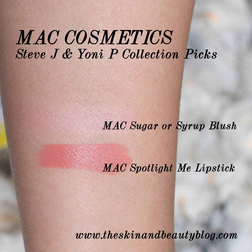 MAC Sugar or Syrup Blush and MAC Spotlight Me Lipstick Review and swatches