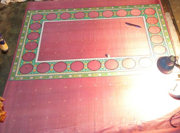 Raghurajpur hand paintings go on to a custom silk saree