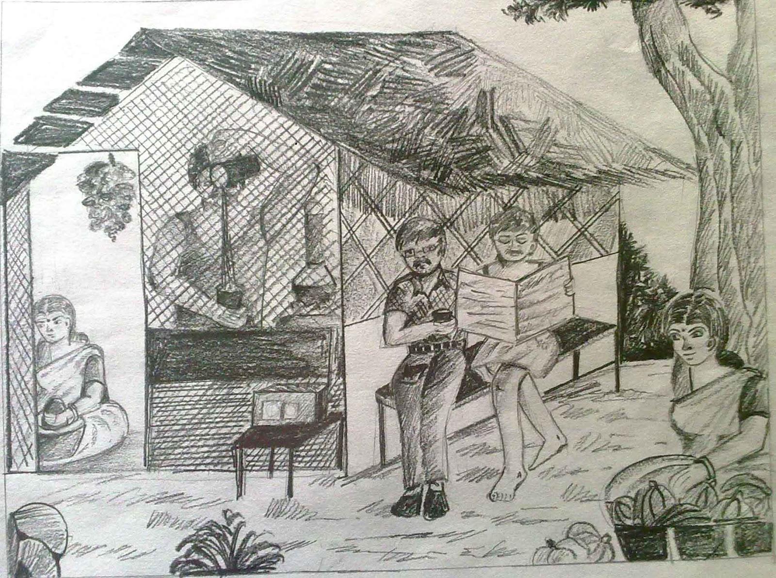 Vpkmmhss puthur pallikkal pencil drawing competition