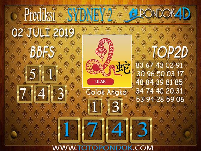 Prediksi Togel SYDNEY 2 PONDOK4D 02 JULI  2019