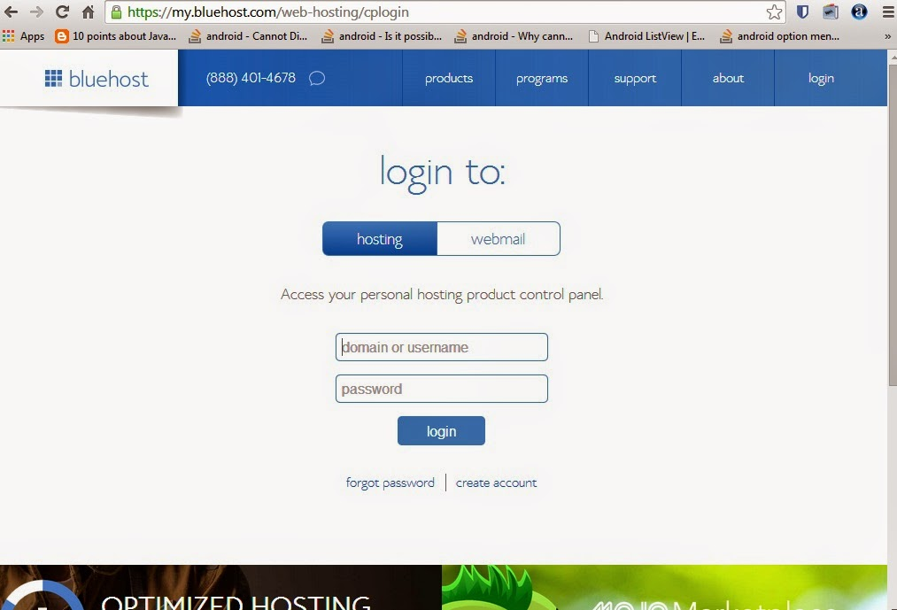 Wordpress-installation-on-bluehost-login-screen