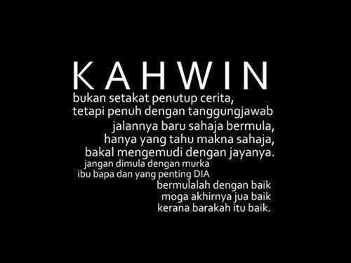 kahwin quotes