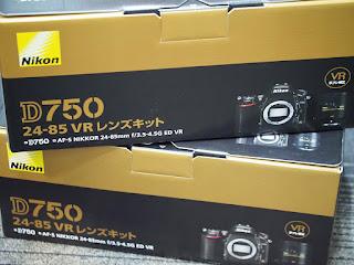 デジタルカメラを買い取りました 中古品も新品も高く買い取ります ニコンD750新品です