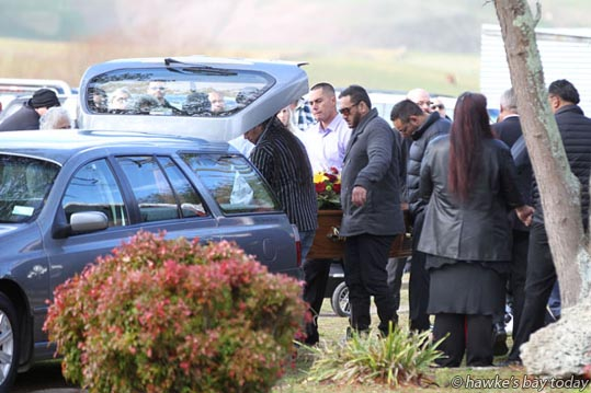 Former Hawke's Bay Magpie Roger Chappell was farewelled at Pukehou Marae in Central Hawke's Bay. He was one of two people killed in a crash between Eketahuna and Masterton on Sunday. photograph