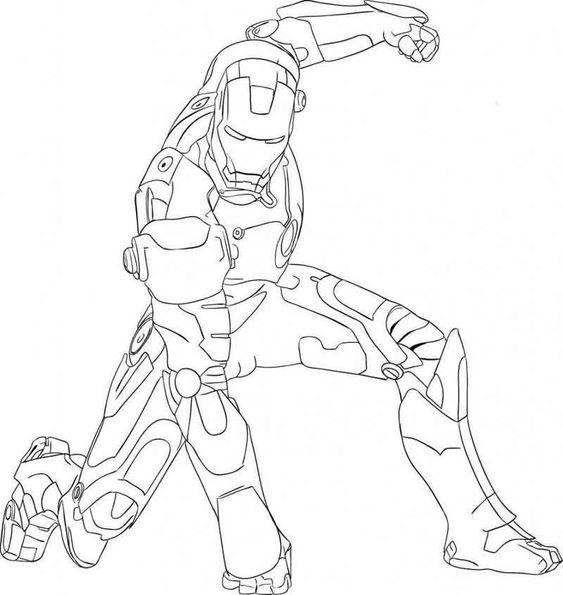 Tranh tô màu người sắt 01