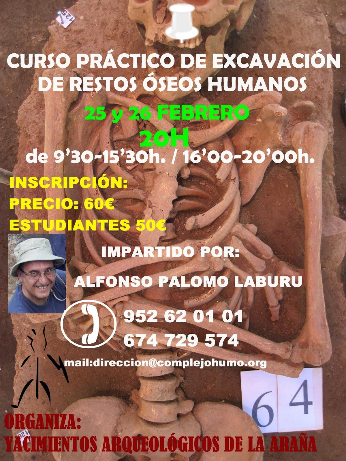 Yacimientos Arqueológicos de la Araña: CURSO PRÁCTICO DE EXCAVACIÓN ...
