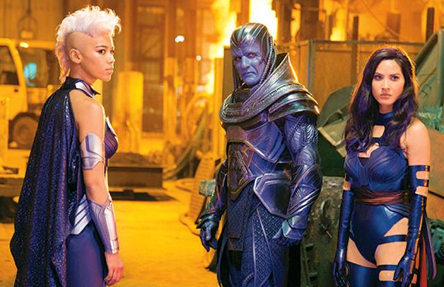 Alexandra Shipp, Oscar Isaac şi Olivia Munn în X-Men: Apocalypse