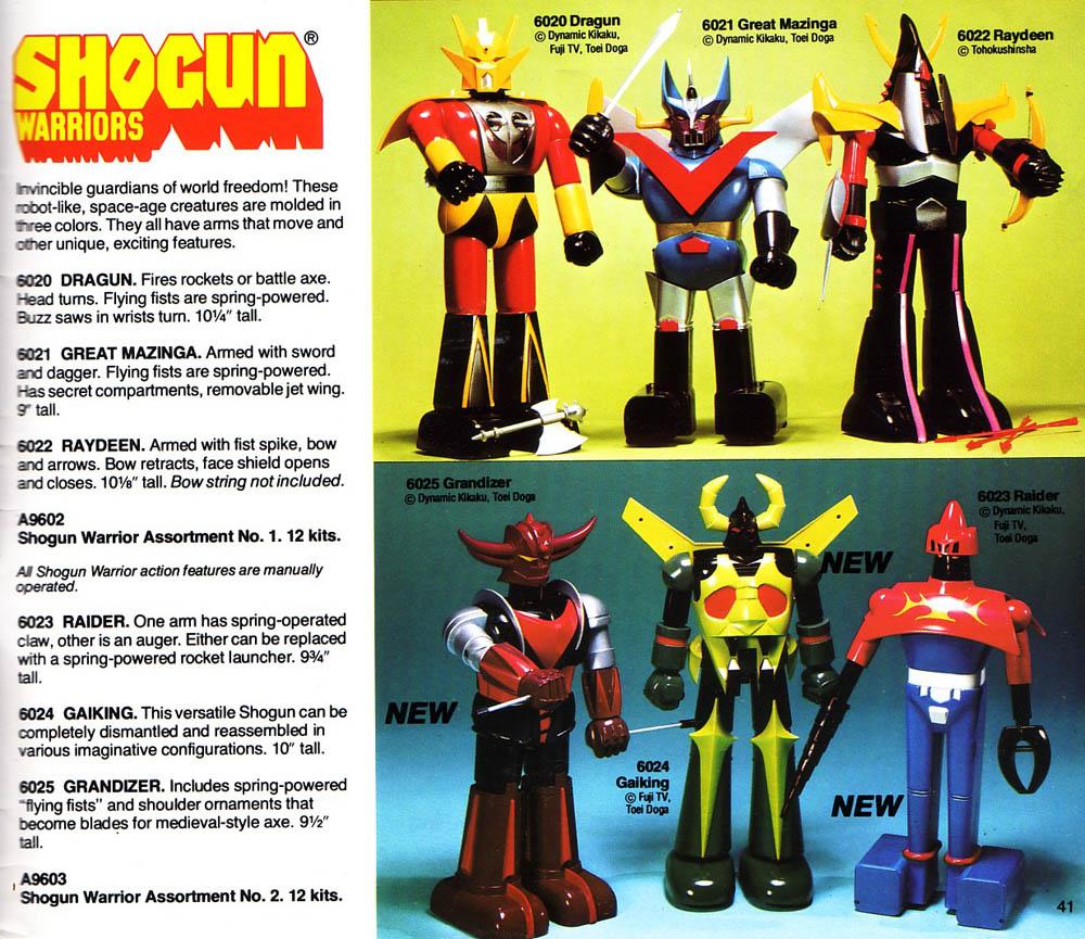 Mid-May Updates - Shogun Warriors Kits and Coloring Book