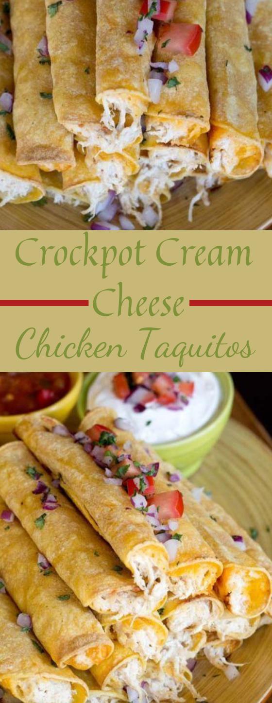 CREAM CHEESE CHICKEN TAQUITOS #dinner #recipe
