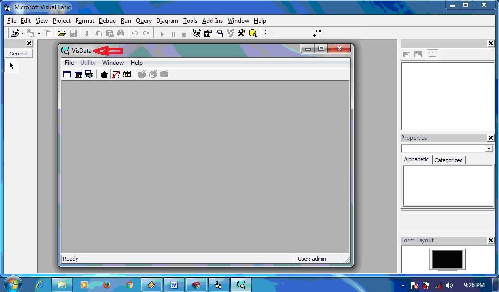 Visual Data Manager Visual Basic 6 0 Imron