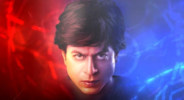 Shah Rukh Khan in fan as Gaurav and Aryan.