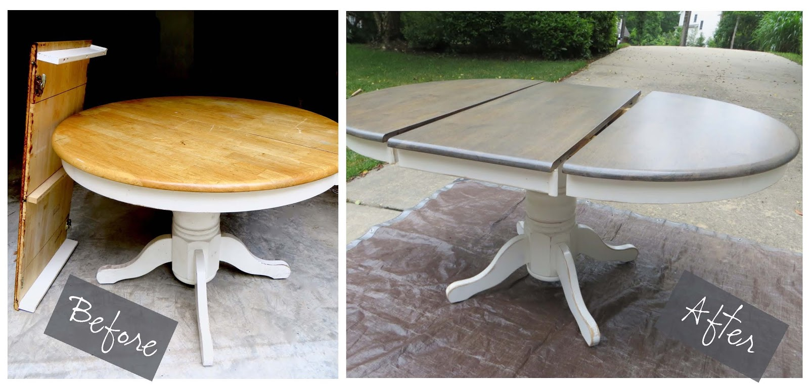 pedestal table refinished itu0027s easy - Refinish Table