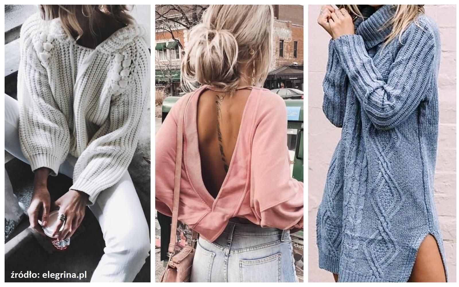 Modne swetry jesień 2018