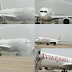 Ethiopian Airlines A350 get water salute as the first aircraft to land on the newly rehabilitated Abuja International Airport [photos]