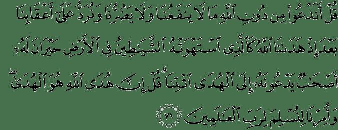 Surat Al-An'am Ayat 71