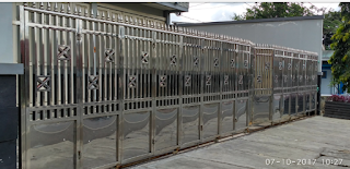gerbang pintu pagar lipat stenlis yang bagus