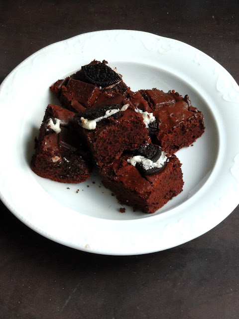 Fudgy Oreo Chocolate Brownies