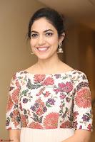 Ritu Varma smiling face Cream Anarkali dress at launch of OPPO New Selfie Camera F3 ~  Exclusive 057.JPG