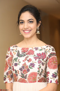 Ritu Varma smiling face Cream Anarkali dress at launch of OPPO New Selfie Camera F3 ~  Exclusive 057.JPG