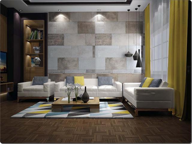 Contoh Ide Keramik Untuk Dinding Ruang Tamu: Motif Model Harga Terbaik Sebagai Tempat Untuk Reunian Keluarga