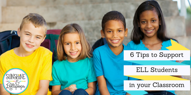 Do you have English Language Learners in your classroom? If you do...you will want to take a look at this post and discover 6 easy and fun tips to support your ELL students. I am sure you will LOVE #1!