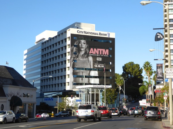 Giant America's Next Top Model season 23 billboard Sunset Strip