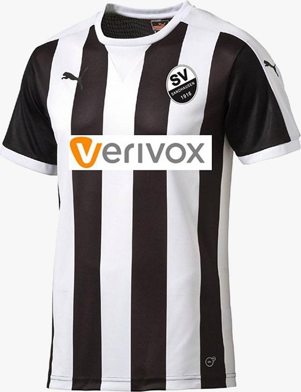cecbfb41b9 ... uniformes que serão usados pelo Sportverein 1916 Sandhausen na temporada  2017 18 da Segunda Divisão do Campeonato Alemão de futebol ( 2.Bundesliga ).