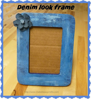 upcycled denim look frame