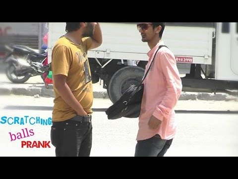 NepaliPranksters - Scratching Balls With Hair Prank