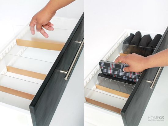 ... dividers are adjustable finally time to insert your acrylic dividers