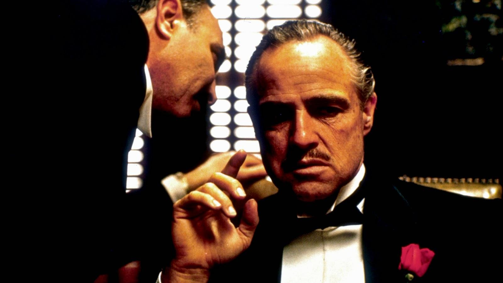 """Marlon Brando Ganhou o Oscar de Melhor Ator por Don Corleone, em """"O Poderoso Chefão"""""""
