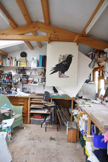 Sue Brown Printmaker Spoke Raven