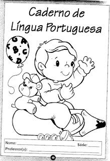 Capa de caderno português