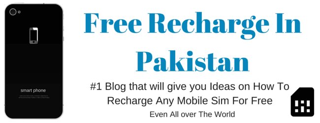 Free Mobile Recharge In Pakistan