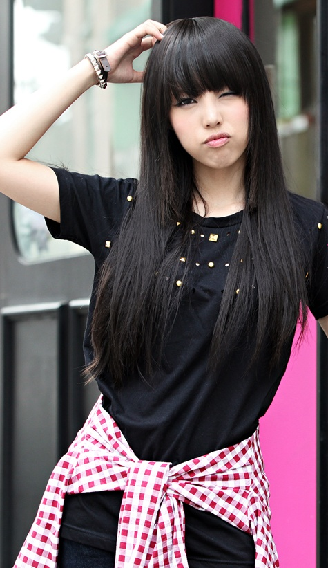 tren Model gaya rambut panjang wanita cewek terbaru 9