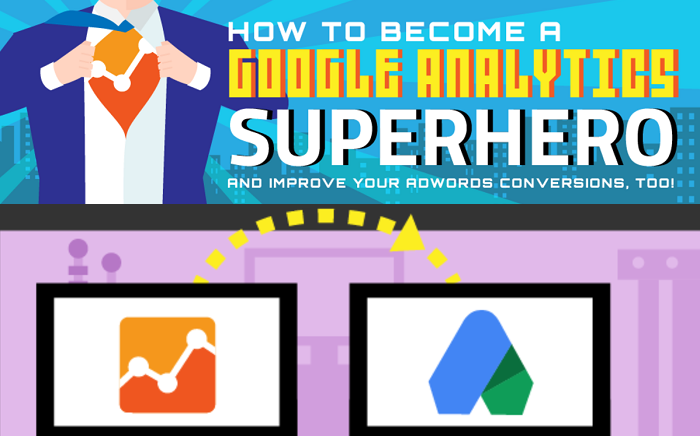 How To Become A Google #Analytics Superhero and Improve Your Adwords Conversion, Too #infographic