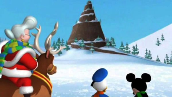 Santa's sleigh broke down on top of Mistletoe Mountain