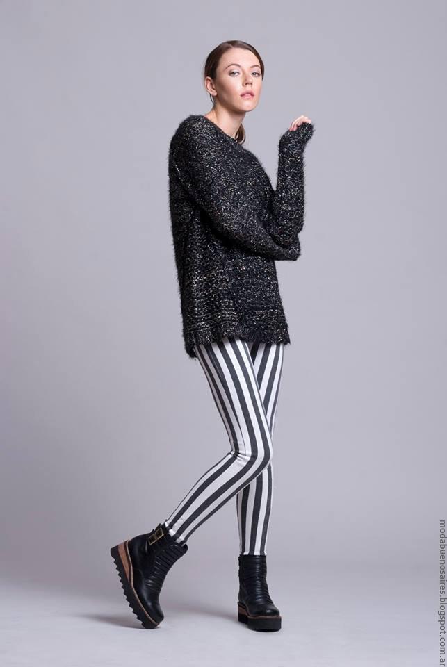 Leggings invierno 2016 ropa de mujer Dominga Dominó. Moda 2016 invierno mujer argentina. Moda 2016.